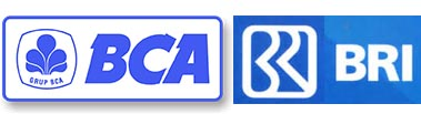 Logo Bank BCA & BRI
